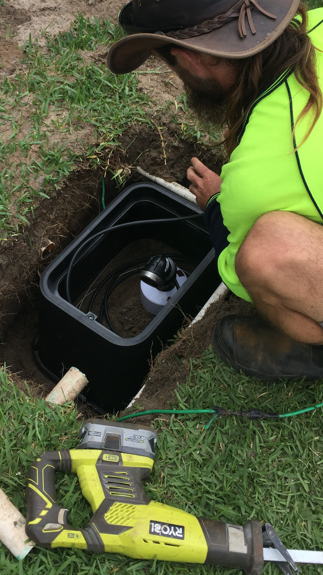 How Is A Bore Connected To Retic Virgin Bores Wiring Sprinkler Timer Box Submersible Pump Just Installed