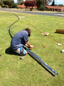 New submersible pump and poly pipe & electrical cable