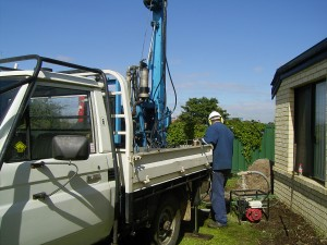 Drilling a new water bore