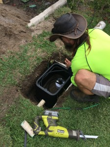 Perth submersible bore under lawn