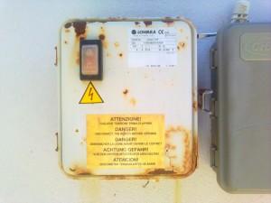 Lowara rusted start box bore capacitor