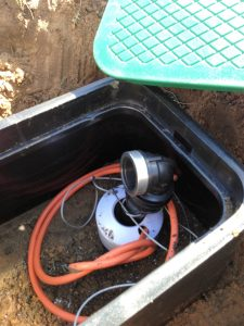 Alexander Hts submersible Bore box and submersible pump will be hidden under lawn or garden